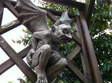 (NEW) HOME & GARDEN STONE FLYING GARGOYLE~STONE ORNAMENTS~BESPOKE STONE DETAILED