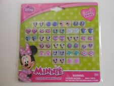 MINNIE MOUSE STICKER EARRINGS 24 COUNT ASSORTED DESIGNS NEW