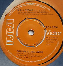 """R & J STONE - Thrown It All Away - Excellent Condition 7"""" Single RCA 2746"""