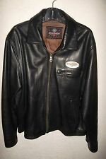Harley Davidson Mens Black Leather Jacket size Large