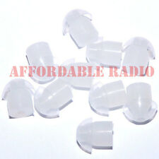 20 clear silicone rubber earbud ear tips for Motorola radio earpiece headset