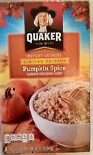 LIMITED EDITION Quaker Instant Oatmeal Pumpkin Spice USA import 8 packets 344g