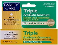 Anti-Infection First Aid TRIPLE ANTIBIOTIC OINTMENT Family Care 0.33 oz 9.35 gr