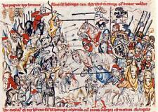 Battle of Legnica Poland 1241 Teutonic Knights Templar Mongols 7x5 Inch Print