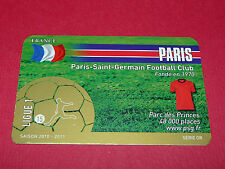 RARE FOOTBALL CARD FOOT2PASS 2010-2011 PARIS SAINT-GERMAIN PSG PARC DES PRINCES