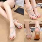 Women Summer Bohemia Sandals Shoes Thong Flip Flops T Strap Strappy Toe Slippers