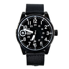 LRG Field & Research 40mm Black Steel Wrist Watch New in Box