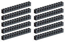 LEGO Technic 10 pcs CLASSIC BLACK BRICK BEAM 1x12 WITH HOLES Part Piece 3895