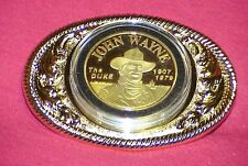 John Wayne The 'DUKE' Gold Medallion Belt Buckle SPECIAL SALE.....