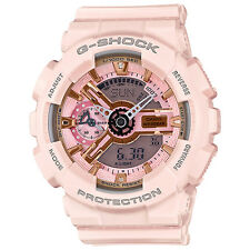 Casio G-Shock GMAS110MP-4A1 Gold and Pink Dial Pink Resin Women's Sport Watch