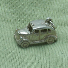 3D STERLING SILVER BIG TRADITIONAL LONDON TAXI  CHARM