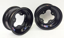 "DWT Black A5 Rolled Lip ATV Front Wheel PAIR 10"" 10x5 3+2 4/144 450R 400EX 250R"