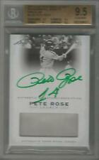 2011 LEAF PETE ROSE LEGACY MLB USED JERSEY GREEN INK AUTO #/5 BGS GEM MINT 9.5/9
