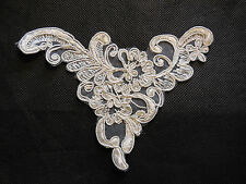 Ivory bridal cord floral lace Applique /lace motif for sale.14x11cm.By pcs