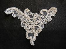 Ivory bridal cord floral lace Applique /lace motif for sale.14x11cm.By pcs