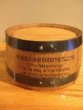 Whiskey Bottle Glorifier Barware Wooden Pedestal, Cabin Fever