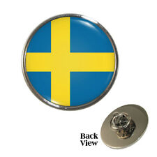 Swedish Flag Pin Badge Sweden Scandinavian Pride Brand New
