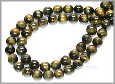 "15.75"" Blue Tiger's Eye Round Beads 8mm #81043"