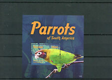 Guyana 2015 MNH Parrots of South America 1v S/S II Birds Brown-hooded Parrot