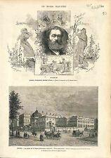 Palais de la Légion d'honneur Paris France / Jean-Louis Hamon Peintre 1874