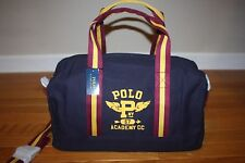 New with Tag Polo Ralph Lauren Boys Navy Blue Screen-Printed Gym Duffle Travel