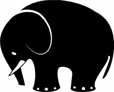 Elephant Silhouette Sticker Decal Graphic Vinyl Label Black V2