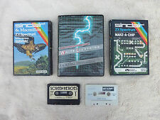 8 Vintage Sinclair Spectrum 48K Computer Tape Games Programs Good Used Condition