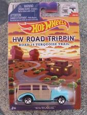 Hot Wheels 2015 ROAD TRIPPIN 20 1940's WOODIE cream over pale blue