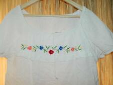 Vintage 1970s/80s Embroidered Cheesecloth Gypsy Blouse folk top boho hippy S