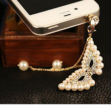 Anti Dust Plug For Samsung Galaxy S6 S5 S4 S3 S2 Note 4 3 2 Pearls Mask