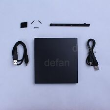 USB External Enclosure Case For 9.5mm SATA CD / DVD ROM UltraBay Optical Drive