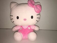 "TY By SANRIO Handmade 9"" Hello Kitty Pink Plush,Polyester Fiber/Plastic Pellets"