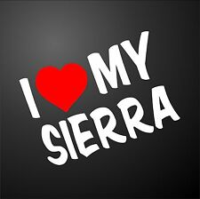 I LOVE MY SIERRA FORD COSWORTH Car Window Bumper Graphic Sticker alloy wheels