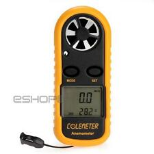 Digital Airflow Backlight Wind Speed Gauge Meter Anemometer Thermometer