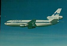 B0489mdt Transport finnair Airlines DC10 Aircraft postcard