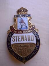 Stunning & RARE 1924 enamel Badge JOHNNIE WALKER WHISKY   Licensed Victuallers