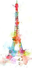 20 water slide nail transfer decals colorful effiel tower  5/8 inch trending