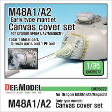 DEF. MODEL, US M48A1/A2 Early canvas cover set (Dragon/Magach1), DM35072, 1:35