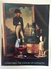 Original 1980s Courvoisier VSOP Cognac vintage Print magazine advert