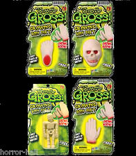 GROW SEVERED BODY PARTS--Zombie Morgue Gag--SKELETON HAND SKULL FOOT-4pc-Lot Set