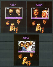 Chad 2016 CTO ABBA 3x 1v M/S Music Celebrities Stamps