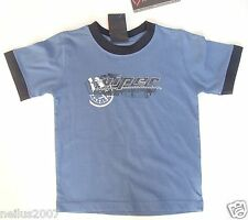 BNWT Boys Designer Viper By Dodge Blue Logo Cotton T-Shirt Top Age 4
