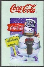 Coca Cola Snowman Nostalgie Barspiegel Spiegel Bar Mirror 22 x 32 cm