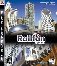 FREE SHIP USED Railfan PS3 Playstation3 Import Japan