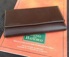 RARO Classico Pelle Borsetta Da International DAINES & Hathaway Made in England