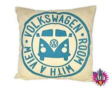 VW CAMPER VAN ROOM WITH A VIEW RETRO CUSHION PILLOW