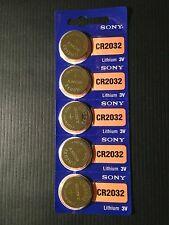 5 pc SONY CR2032 3 Volt Lithium Button Cell Battery USA Ship