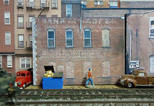#310 O scale background building flat  BANK SIDE   *FREE SHIPPING*