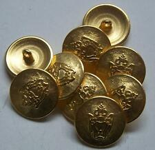 8pc 15mm Art and Crafts Inspired Gold Colour Blazer Button  2279