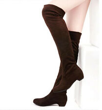 Sexy Women Boots Autumn Winter Ladies Fashion Flat Over Knee Long Boots Shoes